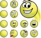 Smiling,Smiley Face,Tennis,Tennis Ball,Ball,Facial Expression,Emoticon,Making a Face,Vector,Symbol,Sport,Anthropomorphic Face,Emotion,Ilustration,Yellow,Computer Icon,Characters,Vector Cartoons,Illustrations And Vector Art,Sports And Fitness