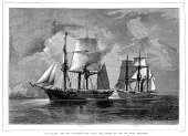 Sailing Ship,Military Ship,Nautical Vessel,Old-fashioned,Engraved Image,British Culture,Arctic,The Past,Exploration,History,Sea,English Culture,Sail,19th Century Style,Ilustration,News Event,Victorian Style,Art,Antique,Warship,Image Created 19th Century,Royal Navy,Navy,Military,British Empire,Tall Ship,European Culture,Adventure,Transportation,Water,British Military,Illustration Technique,Image,Styles,Mode of Transport,topsail,Illustrations And Vector Art,Travel Locations,Cultures,Mast,Image Created 1870-1879,Historical Ship,Vessel Part,Geographical Locations,Human Role,Image Date