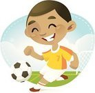 Soccer,Child,Soccer Player,Little Boys,Football,Playing,Sport,Soccer Ball,Play,African Descent,Athlete,Cheerful,Goal,Playful,Outdoors,Soccer Uniform,Kicking,Cute,Energy,Babies And Children,Vector Cartoons,Male,Sports And Fitness,Joy,Competitive Sport,Illustrations And Vector Art,Lifestyle