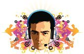 Club Dj,Music,Swirl,Young Adult,Vitality,Ornate,Modern,Striped,In A Row,Imagination,Backgrounds,Singer,Headphones,Sun,Style,Focus On Background,Concepts,Vibrant Color,Rap,Hip Hop,Multi Colored,Composition,Scroll Shape,Arts And Entertainment,organic design,Decoration,Vector,Music,Shape,Design,Pattern,Lifestyle,Young Adults,Hip Hop,Elegance,Modern Rock,Splashing,Abstract,Musical Theater,Color Image,Floral Pattern