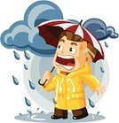 Rain,Storm,Cartoon,Weather,Flood,Raincoat,Ilustration,Natural Disaster,Umbrella,People,Wind,Vector,Season,Nature,Cloud - Sky,Cumulonimbus,Activity,Climate,Wet,Meteorology,Cloudscape,People,Globe - Man Made Object,Illustrations And Vector Art