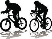 Cycling,Bicycle,Women,Biker,Cycle,Female,Competition,Vector,Racing Bicycle,Cycling Helmet,Sport,Men,Athlete,Black Color,Outdoors,Exercising,Action,White,Activity,Recreational Pursuit,Professional Sport,Equipment,People,Physical Activity,People,Sports And Fitness,Competitive Sport,Male,Motion,Adult,Healthy Lifestyle,Illustrations And Vector Art,The Human Body,Sports Training