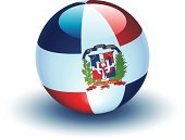 Dominican Republic,Flag,Interface Icons,Sphere,Isolated On White,Symbol,Vector,No People,Ilustration