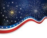 Firework Display,Fourth of July,Backgrounds,Patriotism,Celebration,American Culture,Blue,Red,White,Star Shape,Vector,Swirl,US Memorial Day,Curve,Ilustration,Wave Pattern