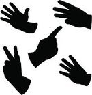 Human Hand,Pointing,Silhouette,Three Objects,Single Object,Women,Back Lit,Two Objects,Five Objects,Number 5,Greeting,Men,Counting,Moving Up,Number,Open,Showing,Awe,Gesturing,Black Color,White,Four Objects,Part Of,Success,The Human Body,handcarves,Majestic,Success,Illustrations And Vector Art,People,Concepts And Ideas