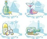Sea,Bottle,Lighthouse,Message,Sailboat,Suntan Lotion,Animal Shell,Vector,Wineglass,Passenger Ship,Vacations,Travel,Outdoors,White,Table,Blue,Starfish,Tourism,Souvenir,Summer,Ilustration,Palm Tree,Leisure Activity,No People,Season,Alcohol,Objects/Equipment,Illustrations And Vector Art,Single Object,Cocktail,Color Image,Yacht,Travel Locations,Beaches,Simplicity,Journey,Protective Mask - Workwear,Resting,Martini