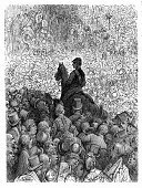 Horse Racing,Epsom,Success,London - England,Horse,Jockey,Antique,Epsom Downs,Sport,Crowd,Old-fashioned,Group Of People,Engraved Image,Black And White,Surrey,Gustave Dore,Victorian Style,Woodcut,Animal,Animal-Related Occupation,Horseback Riding,Equestrian Event,Mammal,Print,Epsom Racecourse,Hoofed Mammal,Animal Sport,Spectator,Ilustration,People,History,Entertainment,England,UK,19th Century Style,The Past,Achievement,Number of People,Styles,Arts And Entertainment,Sports And Fitness,Human Role,Occupation,Thoroughbred Horse,Epsom Derby,Riding Sports,Illustrations And Vector Art,Southeast England,Image Created 19th Century,Image