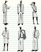 People,Sketch,Men,Business,Women,Drawing - Art Product,Doodle,Symbol,Suit,Ilustration,Vector,Standing,Design,Creativity,Businessman,Backgrounds,Funky,Scribble,Paper,Pen And Marker,Cool,Businesswoman,Ideas,Motivation,Rough,Digitally Generated Image,Computer Graphic,Design Element,Professional Occupation,Business People,Vector Cartoons,Adult,Teamwork,Business Teams,Imagination,Business Relationship,Copy Space,Inspiration,Lined Paper,Business,Illustrations And Vector Art