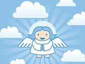 Angel,Catholicism,Church,Halo,Spirituality,Cloud - Sky,Heaven,Symbols Of Peace,Religion,Sky,Serene People,Peace On Earth,Sun,Tranquil Scene,Artificial Wing,Glowing,Illustrations And Vector Art,Nature,Religion,Concepts And Ideas,Sunbeam,Concentric,Wing,Christianity,Sunlight
