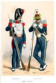French Culture,Armed Forces,Colors,Napoleonic Wars,French Military,Army,19th Century Style,France,Military,Rifle,History,Hat,Army Soldier,Engraved Image,Styles,Image Created 1850-1859,Grenadier,Print,Art,Lithograph,Traditional Clothing,Weapon,Headwear,Gun,Uniform,Old-fashioned,Lifestyle,Clothing,Cultures,The Past,Bayonet,Ilustration,Image Created 19th Century,European Culture,Bearskin Hat,Color Image,Military Invasion,Period Costume,Empire,Europe,Occupation,Honor Guard,Military Uniform,French Empire,Image,Antique,Painted Image,Historical Clothing,Historical War Event,People