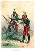 Napoleonic Wars,French Culture,Armed Forces,French Military,France,Painted Image,Military Uniform,Old-fashioned,Army,Military Invasion,dragoon,Image Created 19th Century,Lifestyle,News Event,French Empire,Clothing,Print,Weapon,Cultures,Ilustration,Military,Styles,The Past,Image,Central Europe,Occupation,Image Created 1850-1859,Color Image,Rifle,Illustration Technique,Lithograph,Traditional Clothing,Antique,Illustrations And Vector Art,Historical War Event,People,Empire,Uniform,Army Soldier,Europe,Colors,Historical Clothing,19th Century Style,History,Image Type,Human Role,Period Costume,Image Date,European Culture,Art,Gun,Engraved Image