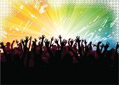 Popular Music Concert,Music Festival,Crowd,Party - Social Event,Nightlife,Dancing,Human Hand,Silhouette,Nightclub,People,Dirty,Backgrounds,Black Color,Grunge,Vector,Abstract,Red,Disco Dancing,Women,Light - Natural Phenomenon,Teenage Girls,Sunbeam,Dancer,Pattern,Blue,Vibrant Color,Shadow,Orange Color,Human Arm,Ilustration,Male,Design Element,Bright,Men,Arts Abstract,Dance,Illustrations And Vector Art,Arts And Entertainment