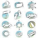 Sailboat,Bus,Suitcase,Ilustration,Beach Ball,Transportation,Symbol,Ticket,Icon Set,Travel,Vector,Compass,Sandal,Computer Icon,Summer,Car,Computer Graphic,Wheel,Sun,Clip Art,Animal Shell,Travel Locations,Holidays,Holidays And Celebrations,Holiday Symbols,Transportation