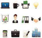 Computer Icon,Icon Set,Office Interior,Symbol,Flipchart,Business,Rotary Card File,Office Building,Briefcase,Handshake,Document,Businessman,Computer,Calculator,Laptop,Ring Binder,Vector,Light Bulb,Cursor,Set,Ilustration,Bar Graph,Mug,Objects/Equipment,Business Symbols/Metaphors,Pen,Vector Icons,Design Element,Business,Illustrations And Vector Art,Characters,Coffee Cup