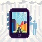Smart Phone,City,Mobile Phone,Flyer,Rain,Lifestyles,Three-dimensional Shape,Urban Scene,Built Structure,Symbol,Vector,Party - Social Event,Silhouette,Abstract,Boredom,Computer Graphic,Design,Ilustration,Funky,One Person,Design Element,Sunlight,Skyscraper,Invitation,Greeting Card,Fliar,Gray,Vector Cartoons,flayer,Modern,Illustrations And Vector Art