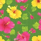 Flower,Hawaiian Culture,Pattern,Tropical Flower,Floral Pattern,Hibiscus,Textile,Summer,Seamless,Backgrounds,Ilustration,Pink Color,Wallpaper Pattern,Elegance,Green Color,Contrasts,Yellow,Blossoming,Effortless,Flower Head