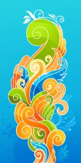 Postcard,Decoration,Art Product,Backgrounds,Summer,Retro Revival,Style,Creativity,Design,Computer Graphic,Orange Color,Springtime,Ilustration,Vector,Ornate,Plant,Clip Art,Vector Backgrounds,Curled Up,Drawing - Art Product,Illustrations And Vector Art,Decor,Vector Ornaments,Part Of,Green Color,Elegance,Yellow,Curve