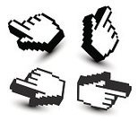 Pixelated,Human Hand,Cursor,Computer Mouse,Art,Vector,Pointer Stick,Human Finger,Three-dimensional Shape,Computer,Techno,Symbol,Sign,Technology,Black Color,Computer Icon,Technology Symbols/Metaphors,Image,Direction,Illustrations And Vector Art,Design Element,Technology,Ilustration,Vector Icons,Computers,Shadow