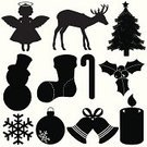 Christmas,Silhouette,Computer Icon,Angel,Tree,Vector,Reindeer,Bell,Snow,Design Element,Sock,Deer,Snowman,Candy,Decoration,Sphere,Snowflake,Gift,Artificial Wing,Star Shape,Celebration,Traditional Festival,Christmas Lights,Christmas Decoration,Ribbon,Leaf,Fire - Natural Phenomenon,Hat,Isolated,Vector Icons,Christmas,Holidays And Celebrations,Illustrations And Vector Art