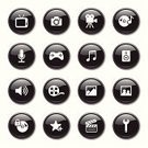 Interface Icons,Camera - Photographic Equipment,Film,Symbol,Sound,Recording Studio,Audio Equipment,Black Color,Computer Icon,Icon Set,Multimedia,Movie,Television Set,Sound Recording Equipment,The Media,Information Medium,Sign,Microphone,Shiny,Music,Film Slate,Circle,Camera Film,Film Reel,Film Industry,favorite,Home Video Camera,Vector,Locking,Security Guard,Video Game,Game Pad,Play Back,web icon,Design,Illustrations And Vector Art,Lock,Vector Icons,Sphere,Technology,Arts Symbols,Technology Symbols/Metaphors,Arts And Entertainment