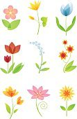 Tulip,Lily,Forget-Me-Not,Flower,Symbol,Transparent,Blossom,Leaf,Isolated,Design Element,Illustrations And Vector Art,Nature,Flowers,Isolated On White,Nature,Multi Colored,Green Color,Ilustration