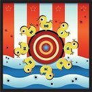 Traveling Carnival,Target Shooting,Shooting,Ornamental Ducks,Carnival Booth,Amusement Arcade,Leisure Games,Aiming,Rubber Duck,Bull's-Eye,Vector,Physical Activity,Blue,Yellow,Sharp Shooting,Sports And Fitness,Individual Sports,Animals And Pets,Enjoyment,Toy Animal,Star Shape,Red