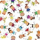 Preschool,Child,Backgrounds,Seamless,Playing,Animation,Fun,Group Of People,Colors,Ilustration,People,Small,Painted Image,Vector,Teenage Girls,Little Girls,Animated Cartoon,Smiley Face,Little Boys,Vector Backgrounds,People,Illustrations And Vector Art,Multiple Image