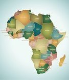 Africa,Map,Cartography,Kenya,Ethiopia,continent,Vector,Sudan,Democratic Republic Of The Congo,Republic of the Congo,Angola,Morocco,Zimbabwe,Egypt,Madagascar,Libya,Tunisia,Algeria,Ilustration,Cultures,Outline,Isolated,Travel,Multi Colored,Geological Feature,Travel Locations,Illustrations And Vector Art,Nature