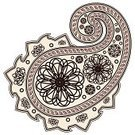 Paisley,Brown,Design Element,Decor,Illustrations And Vector Art,East