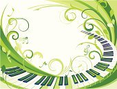 Music,Piano,Backgrounds,Springtime,Nature,Summer,Green Color,Vector,Art,Musical Instrument,Sign,Ilustration,Sketch,Abstract,Key,Computer Graphic,Symbol,Curve,Ornate,Pattern,Plant,Multi Colored,Creativity,Swirl,Design,Decoration,Elegance,Leaf,Composition,Painted Image,Wave Pattern,Bright,Arts And Entertainment,Flora Pattern,Illustrations And Vector Art,Arts Backgrounds,Cute,Vector Backgrounds,Vector Florals,Freshness