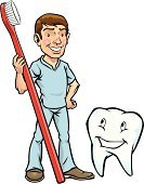 Dentist,Cartoon,Human Teeth,Toothbrush,Doctor,Mascot,Brushing,Hygiene,Brushing Teeth,Vector,Healthcare And Medicine,Dental Health,Humor,Ilustration,Cleaning,Toothpaste,orthodontist,Clean,Cheerful,Smiling,Characters,Medical Exam,Healthy Lifestyle,orthodontic,Examining,Human Face,Occupation,Dental Equipment,Working,Male,Drawing - Art Product,Cute,Dental Checkup,Positive Emotion,Service,Body Care,Looking At Camera,Medical Occupation,Illustrations And Vector Art,Professional Occupation,White,Care,Vector Cartoons,Healthcare Worker,Dental,People,Medicine And Science,Expertise