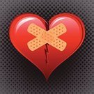 Heart Shape,Broken,Adhesive Bandage,Repairing,Broken Heart,Breaking,Shiny,Divorce,Symbol,Duct Tape,Relationship Difficulties,Halftone Pattern,Black Color,Gray,Square,Image,Broke Up,Red,Love,Single Object,Adhesive Tape,Color Image,No People