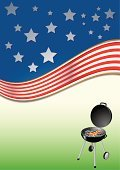 Barbecue,Barbecue Grill,American Flag,Party - Social Event,USA,Vector Backgrounds,Parties,Holidays And Celebrations,Illustrations And Vector Art,Dinner