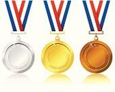 Medal,Award,Gold,Gold Colored,Symbol,Vector,Computer Icon,Silver - Metal,Silver Colored,Bronze,Sport,Challenge,Award Ribbon,Shape,Metal,Single Object,Ilustration,Isolated,Achievement,Design,Success,Motivation,Computer Graphic,Sports And Fitness,Isolated Objects,Illustrations And Vector Art,Simplicity,Competition,Horizontal