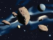 Asteroid,Planet - Space,Space,Rock - Object,Nebula,Solar System,Crater,Gravitational Field,Exploration,Orbiting,Ilustration,Zero Gravity,Futuristic,Star - Space,Medicine And Science,Nature,Concepts And Ideas,Science