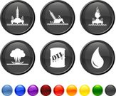 Oil Rig,Oil Spill,Exploding,Water,Natural Disaster,Interface Icons,Computer Icon,Symbol,Disaster,Icon Set,Accident,Black Color,Drop,Flame,Sea,Sparse,Circle,Curve,Blue,Wave Pattern,Modern,Orange Color,Barrel,No People,Red,Vector,Nature,Round Button,Green Color,Design,Burning,Wave,Digitally Generated Image,Isolated On White,Yellow,Empty,White Background,Environment,Fire - Natural Phenomenon,Ilustration