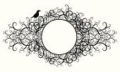 Black Color,Frame,Circle,White,Swirl,Bird,Ornate,Curve,Art Deco,Vector,Backgrounds,Silhouette,Design Element,Outline,Placard,Pattern,Picture Frame,Nature,Deco,Decoration,Isolated,Isolated On White,Natural Pattern,Design,Style,Simplicity,Abstract,Retro Revival,Victorian Style,Sparrow,Classic,Shape,Elegance,Classical Style,Sketch,Old-fashioned,Ilustration,Antique