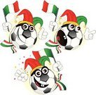 Football,Italy,Fan,Soccer,Italian Culture,Cartoon,Hat,Jester,Ball,Vector,Team,Jester's Hat,Sport,Soccer Ball,Emotion,Characters,Scarf,Italian Flag,Flag,Support,Mascot,Green Color,Hand Sign,Victory,Emoticon,White,Red,Success,Vector Cartoons,Sports And Fitness,Illustrations And Vector Art,Goal,Ilustration