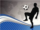 Soccer,Sport,Silhouette,Backgrounds,Kicking,Abstract,Mexico,Vector,Shooting at Goal,Playing,Back Lit,Canada,Africa,USA,World Map,Passing,Design,Ilustration,Blue,Competition,Event,Europe,Bright,Australia,Athlete,Glowing,Sports And Fitness,Concepts And Ideas,Muscular Build,Shiny,South America,North America,Illustrations And Vector Art,Brightly Lit,Vitality,Digitally Generated Image,Asia,Wave Pattern,Competitive Sport,Vibrant Color