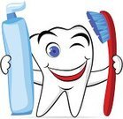 Human Teeth,Toothpaste,Toothbrush,Cartoon,Dental Health,Cheerful,Happiness,Smiling,Healthcare And Medicine,Cute,Health Symbols/Metaphors,Medical,Vector Cartoons,Medicine And Science,Illustrations And Vector Art,White,Beauty And Health,Characters