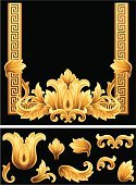 Baroque Style,Gold Colored,Molding A Shape,Picture Frame,Frame,Leaf,Pattern,Decoration,Floral Pattern,Ornate,Vector Florals,Vector Ornaments,Vector Backgrounds,Growth,Art Product,Illustrations And Vector Art
