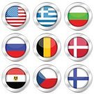 Flag,Badge,Symbol,Egypt,National Flag,Computer Icon,Internet,Interface Icons,Bulgaria,Set,Czech Republic,Greece,Metal,Banner,Circle,Finland,Russia,Isolated On White,Isolated,Concepts And Ideas,Illustrations And Vector Art,Communication,Travel Locations,Design,Denmark,Vector,Vector Icons,Ilustration,Insignia,Belgium,Gray,USA