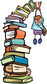 Book,Reading,Child,Studying,Education,Homework,Teenager,Falling,Humor,Little Boys,Schoolboy,School Children,Learning,Isolated,Vector,Fun,Computer Graphic,Vector Cartoons,Babies And Children,Lifestyle,Illustrations And Vector Art,Creativity