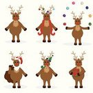 Reindeer,Rudolph The Red-nosed Reindeer,Christmas,Christmas Decoration,Cartoon,Christmas Ornament,Juggling,Sack,Vector,Santa Hat,Package,Cute,Illustrations And Vector Art,Isolated,Holidays And Celebrations,Isolated Objects,Christmas,Vector Cartoons,Party Hat,Ilustration,Holding,Beard,Season,Gift
