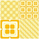 Geometric Shape,Pattern,Seamless,Backgrounds,Retro Revival,Shape,Flower,Square Shape,Floral Pattern,Yellow,Diagonal,Textured,Old-fashioned,Textured Effect,Repetition,Orange Color,Vector,Funky,Curve,Wallpaper Pattern,Cool,The Four Elements,Smooth,Illustrations And Vector Art