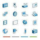 Symbol,Isometric,Computer Icon,Icon Set,Three-dimensional Shape,USB Cable,Newspaper,Fax Machine,The Media,Earth,Mobile Phone,Globe - Man Made Object,Text Messaging,Antenna - Aerial,Blue,Pen,Smart Phone,Pencil,Modem,Equipment,Collection,Vector,Laptop,Radio,Computer Monitor,Wireless Technology,Red,Gray,Green Color,Set,Writing,Camera Film,Internet Icon,Communications Tower,Sphere,Modern,vector icon,Negative