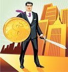 Business,Shield,Currency,People,Men,Trader,Battle,Sword,Knight,Businessman,Success,Warrior,Finance,Symbol,Combat Sport,Fighting,Winning,American Culture,Euro Symbol,Dollar,Dollar Sign,Conflict,Business Person,Challenge,Manhattan Financial District,Vector,City,Competition,swordsman,Trading,Medieval,Coin,Concepts,conquest,Weapon,Suit,Confrontation,Rivalry,Victory,Wall Street,Manager,Ideas,Conquering Adversity,Currency Symbol,Pound Symbol,Adversity,Home Finances,Urban Scene,Illustrations And Vector Art,People,Business,Tower,Skyscraper,combative