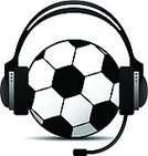 Soccer,Commentator,Sport,Headphones,Ball,Talking,Microphone,Podcast,Vector,Soccer Ball,Discussion,Competition,Symbol,Goal,Named Play,Talk,Sports Team,Isolated,White Background,Black Color,Playing,Sports And Fitness,Computer Icon,Sphere,Play,Speech,Ilustration,Illustrations And Vector Art,Concepts And Ideas,announce,Communication,White