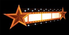 Movie Theater,Billboard,Film Industry,Premiere,Illuminated,Neon Light,Lighting Equipment,Camera Film,Star Shape,Placard,Isolated,Entertainment,Arts And Entertainment,Cinema,Frame,Ilustration,Vector,Announcement Message