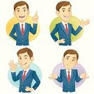 Men,Businessman,Business,People,Business Person,Characters,Confusion,Talking,Gesturing,Cheerful,Suit,Concierge,Emotion,Computer Icon,Expertise,Smiling,Shrugging,Male,Occupation,Professional Occupation,Greeting,Presentation,Service,Young Adult,Manga Style,Confidence,Speech,Standing,Working,Advice,Marketing,Portrait,Showing,Office Worker,Looking At Camera,Cute,Support,OK Sign,Development,Teaching,Assistance,Positive Emotion,Success,Trust,Hand Sign,Actions,Concepts And Ideas,Business People,Feelings And Emotions,OK,Business